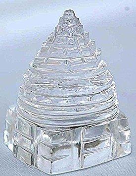 Jaipur Gems Sri Yantra Crystal Quartz Shree Yantra-blessed & Energized For Spiritual Powers, Correcting Vaastu Doshas (imbalances), Enormous Wealth & Prosperity White 20 Grams ()