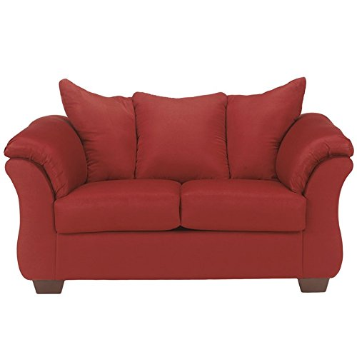 Signature Design by Ashley Darcy Loveseat in Salsa Fabric