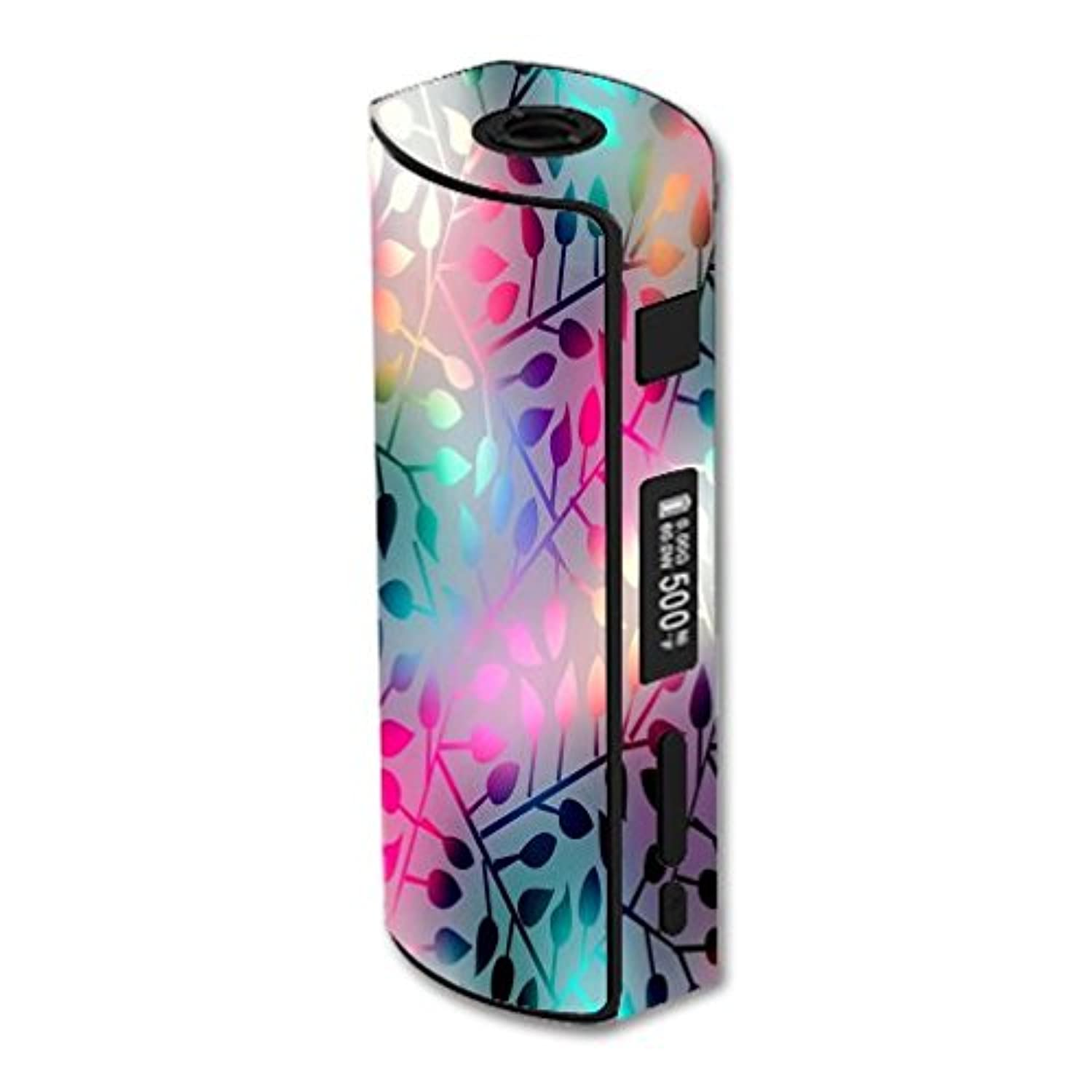 Eleaf iStick 60W TC Vape E-Cig Mod Box Vinyl DECAL STICKER Skin Wrap / > > > Decal Sticker < < < Neon Colorful Leaves Design Print Image