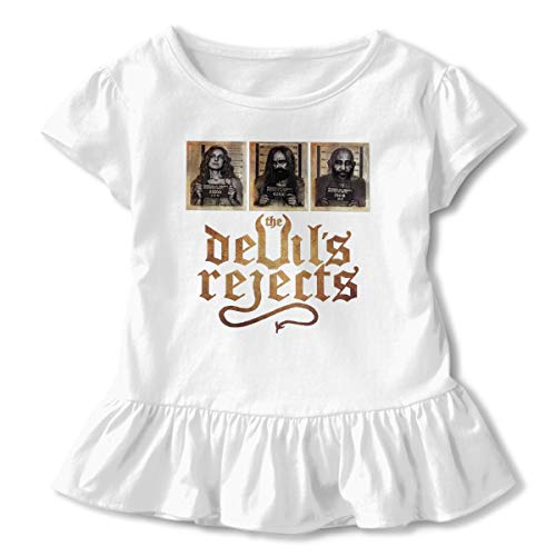 KAMEOR Customized Cute Tee Shirt The Devil's Reject Captain Spaulding Rob Zombie Corrugated Edge Dress T Shirts for Girl White