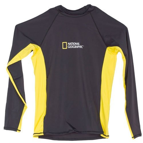 National Geographic Snorkeler Rash Guard Men's, Long Sleeve, Loose Fit, 98-Degrees Snorkeler Wear (Small) by National Geographic Snorkeler