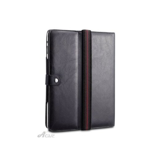 Acase Pure Genuine Hand Made Leather Case Folio (Award Winner Halo) for Apple Ipad Tablet/wifi 3G Model 16gb, 32gb, 64gb (Black) by Acase