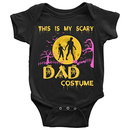 My Scary Dad Costume Baby Bodysuit, Halloween Day Baby Bodysuit (6M, Baby Bodysuit - Black) ()