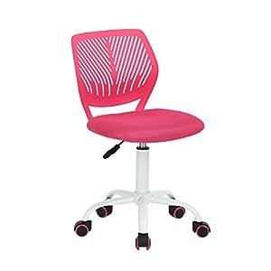 Aingoo Chaise de Bureau Enfant Jolie Chaise sans Bras Ordinateur Étudiant Chambre Hauteur Réglable – Pivotante 360…