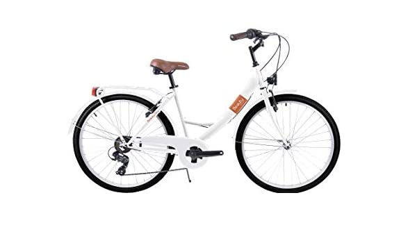 Biocycle Beauty Bicicleta de Paseo, Mujer, Blanco, 26