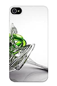 Gregorymalone Durable Glass Scultpure Back Case/ Cover For Iphone 4/4s For Christmas' Gifts