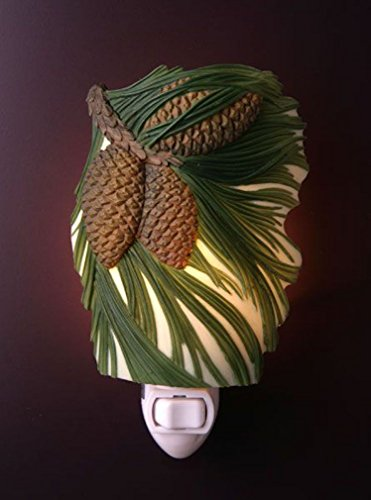 Painted Glass Pinecone Light Fixture - 6
