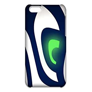 Seattle Seahawks NHL Logo 3D iPhone 5C Case,Nupro Lightweight[Non-Slip] [Scratch-Resistant]Protective Bumper Cover