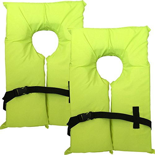 Hardcore Water Sports 2 Pack Type II Neon Yellow Life Jacket