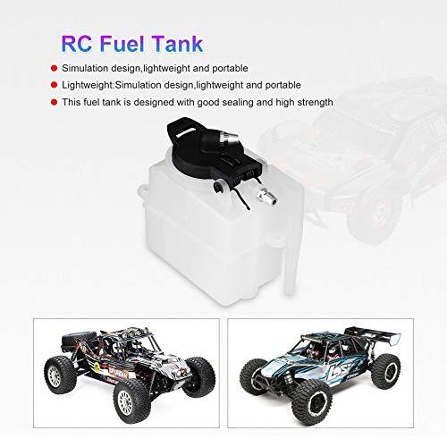 DF-ES Tanque de Combustible Fuel Oil Gasolina Tanque simulado Contenedor de Aceite Modelo RC Repuestos para HSP 94188//94122 1//10 Escala RC Car Color: Blanco