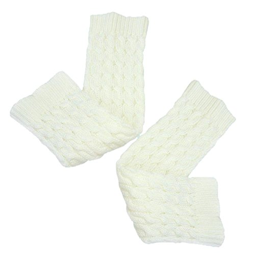 1 Pair Lady Women's Winter Knee High Twist Leg Warmers Soft Boot Socks Beige NiWxKc9Unc