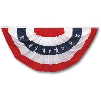 Amazon.com : Super Tough Nylon Pleated Fan Flag Bunting 36 x ...