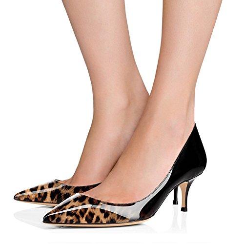 pour Escarpins Leopard EKS femme Schwarz 0fq5xw6w