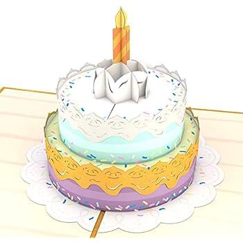 Lovepop Happy Birthday Cake Pop Up Card 3D