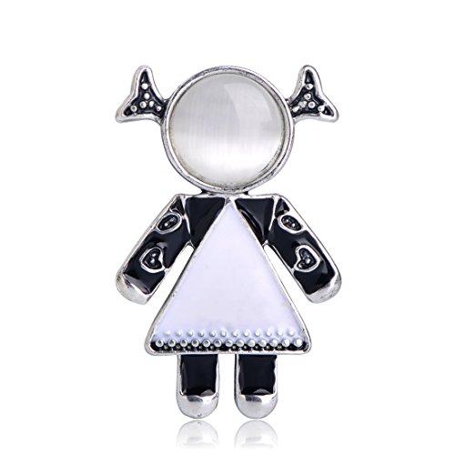 MECHOSEN New Little Girl Shape Brooches Sky Blue Enamel Brooch Pins For Women Girl Party Accessories by MECHOSEN (Image #7)