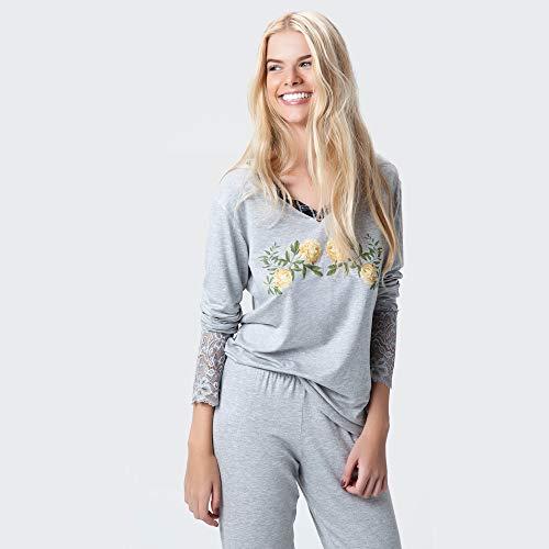 Pijama Longo Malha Oxford