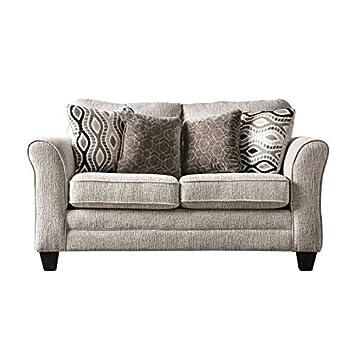 Amazon.com: Muebles de América Elegtra Chenilla Loveseat en ...