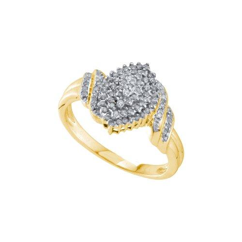 1/4 Carat DIAMOND CLUSTER RING (1/4 Carat Diamond Cluster Ring)