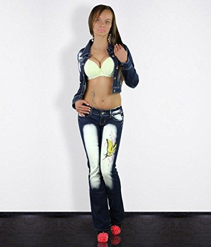 Sexy Damen Jeans Bootcut Hose Crazy Age Jeans Größe UK 6 8 10 12 ...