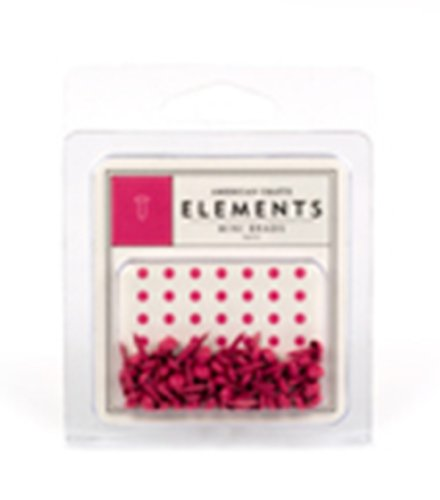 - American Crafts Elements Mini Brads, Taffy