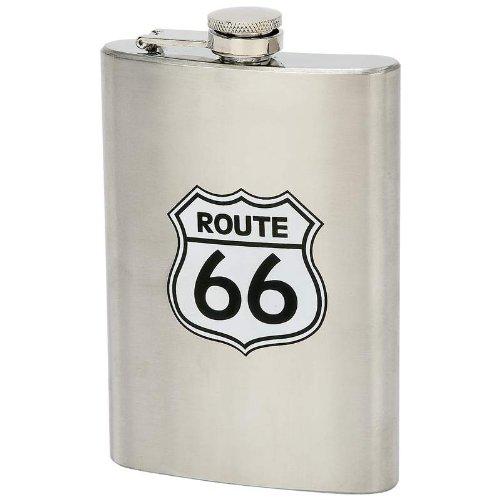 - Maxam 8oz Stainless Steel Margaritaville Route 66 Hip Liquor Flask