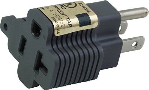 AC Connectors [M515520] 15 Amp Household Plug to 20 Amp T-Blade Female Adapter ()