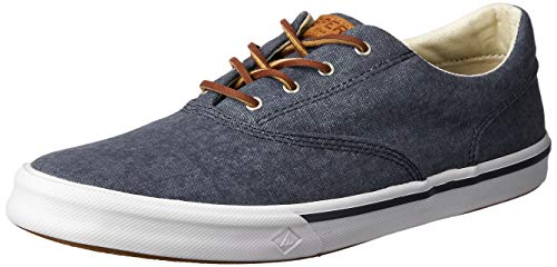 SPERRY Men's Striper II CVO Washed Sneaker, Navy, 10.5