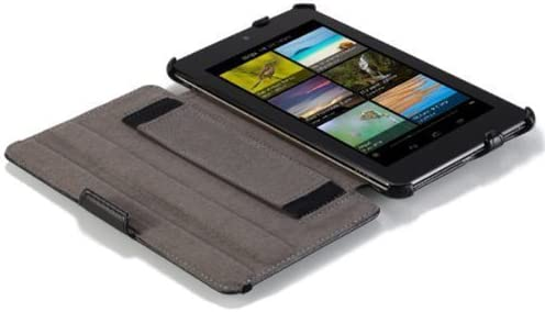 For HTC Flyer 7in Tablet PU Leather Case Folio Flip Black Fitted Cover Stand New