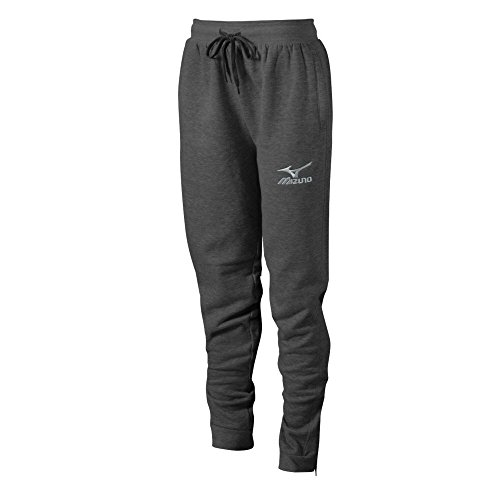 Mizuno Volleyball Jogger Pants, Heathered Charcoal, Large