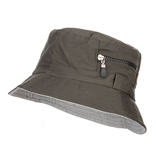 Jeanne Simmons Zip Pocket Cotton Bucket Hat - Green M