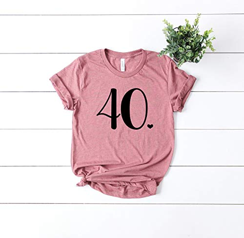 (Happy Birthday Top - Cute Womens Clothes - Bday Girl - 40th Birthday - Forty Fabolous - Casual Short Sleeve T-Shirt - Graphic Tee - Bday Bash)
