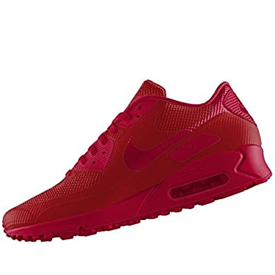 best service f9973 e0fb1 LIGHTWEIGHT COMFORT NIKE AIR MAX 90 HYPERFUSE PREMIUM ALL RED IN UK 6 TO 11  (