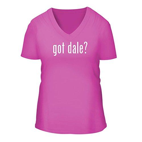 got dale? - A Nice Women's Short Sleeve V-Neck T-Shirt Shirt, Fuchsia, Large