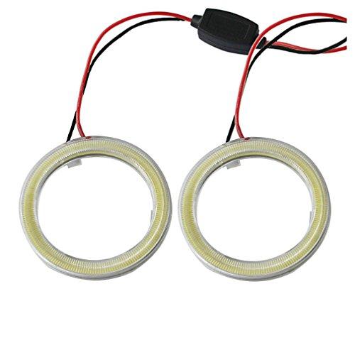 110mm Car COB Angel Eyes Halo Ring LED Light Lamp +Turn Signals - 5