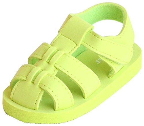 - L'Amour Angel Adjustable EVA Foam Beach Fisherman Child Sandals Boy Girl (4, Lime)