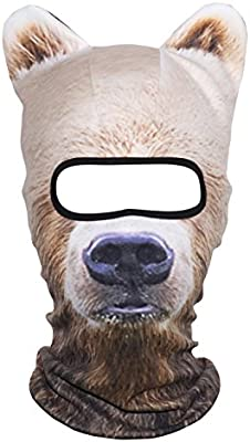 WTACTFUL 3D Stand Ears Animal Balaclava Face Mask for Music Festivals Raves Ski Halloween Party Outdoor Activities