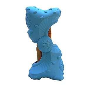 Ruffhides Refillable Chew Toys - Classic Size Blue with Himalayan Chew -Made in the USA