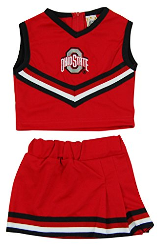 Little King NCAA Ohio State Buckeyes Two Piece Cheer Dress, Size 6, Red ()
