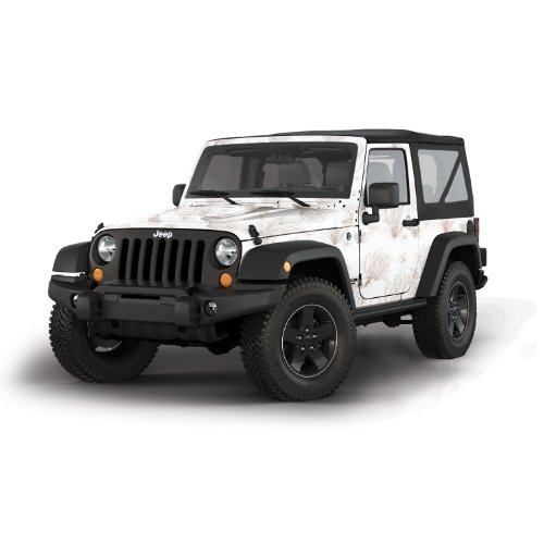 (Mossy Oak Graphics 10002-J2-WB Winter Oak Brush Full Vehicle Camouflage Kit for Jeep 2-Door)