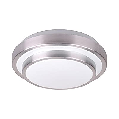 AFSEMOS 8.3-inch LED Flush Mount Ceiling Light, 12W 960LM 80W Incandescent (22W Fluorescent) Bulbs Equivalent, Round Flush Mount Lighting, LED Ceiling Light for Kitchen Bathroom Dining Room