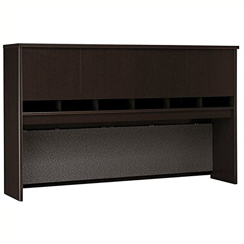 Bush Business Furniture Series C 72W 4 Door Hutch in Mocha Cherry 2 Door Mocha Cherry