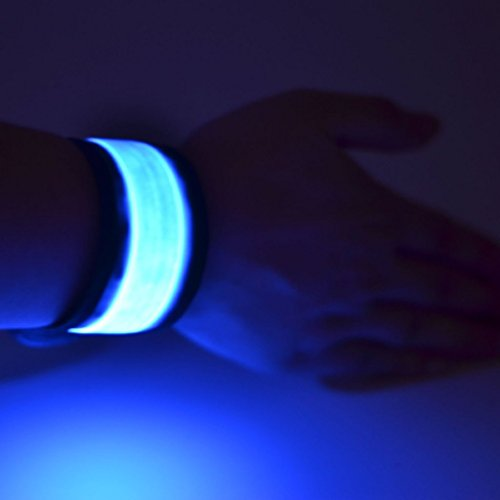Namsan LED Slap Glow Bracelet,Visibility Safety Wristband,