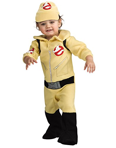 Ghostbusters Romper Costume, Beige, 6-12 Months (Ghostbusters Baby)