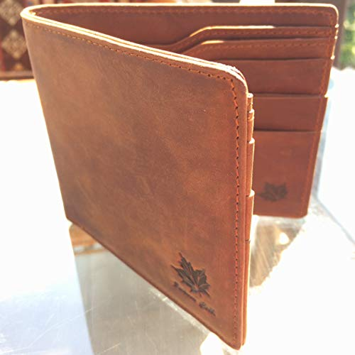 Card Crazy Pocket Front Men Credit Holder Travel Wallet Horse for Leather xr6tq0r