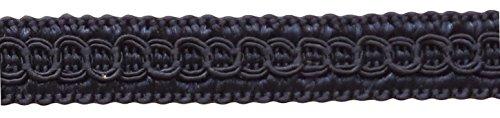 DÉCOPRO 54 Yard Package of 1/2 inch Basic Trim Decorative Gimp Braid, Style# 0050SG Color: Dark Dark Navy Blue - J3 (164 Ft / 50 Meters) by DÉCOPRO