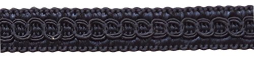 1.27cm Basic Trim Decorative Gimp Braid, Style# 0050SG Color: DARK NAVY BLUE - J3, Sold by the Yard (1 Yard = 91cm/3ft/36