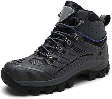 トレッキングシューズ メンズ ハイキングシューズ 防滑 登山靴 耐摩耗 衝撃吸収 アウトドア キャンプ シューズ 通気性スニーカー ハイカット 大きいサイズ 裏起毛 ウィンターブーツ 綿靴 雪靴