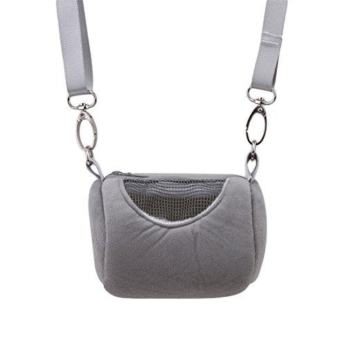 Hi-Unique Portable Pet Hamster Cylinder Bag Carrier Breathable Travel Bag Should Bag for Hedgehog Mouse Rat Sugar Glider Squirrel Chinchilla (Rats Sugar Gliders)