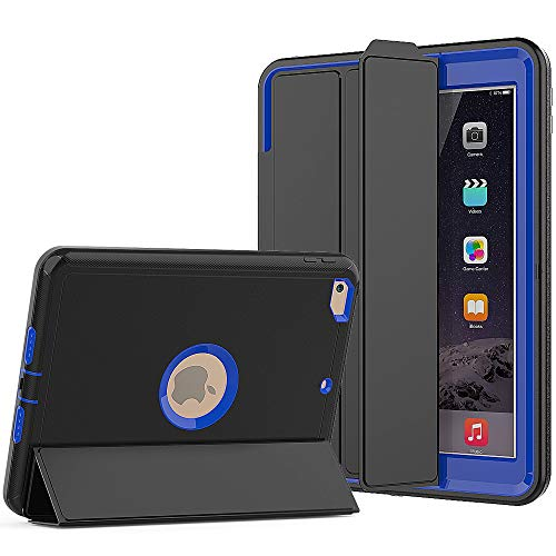 SEYMAC New iPad 9.7 inch Case, Smart Book Cover with Multi-Angle Viewing Stand & Auto Sleep/Wake Function Case Compatible for iPad 5th/6th Gen 2017/2018 (Blue)