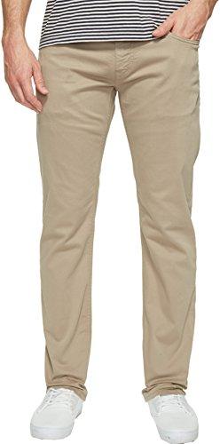 Mavi Men's Zach Regular-Rise Straight-Leg Jeans, Beige Twill